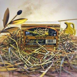 Мыло оливковое с конопляным маслом Knossos, 100г - фото 1