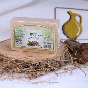 Натуральное оливковое мыло СОСНОВОЕ Knossos, 100г - фото 1