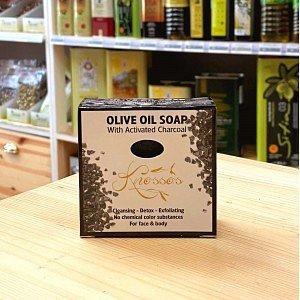 Оливковое мыло с активированным углем, 120г - фото 1