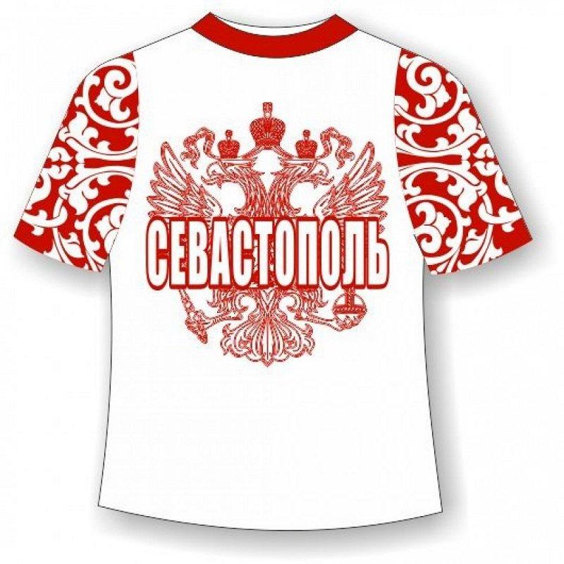 Детская футболка Севастополь хохлома красная - фото 1