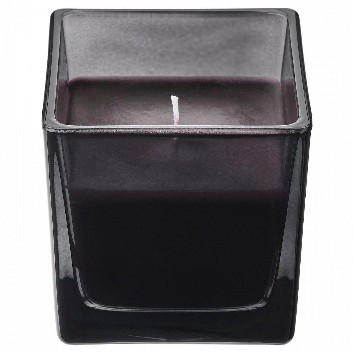 ФРАМФЭРД, Ароматическая свеча в стакане, сосна/черный, 8 см - фото 1