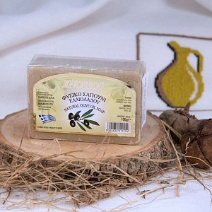 Натуральное оливковое мыло БЕЛОЕ Knossos, 100г - фото 1
