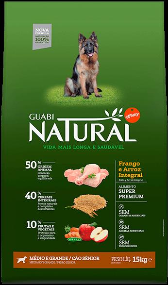 Guabi Natural для пожилых собак средних и крупных пород, 15 кг - фото 1