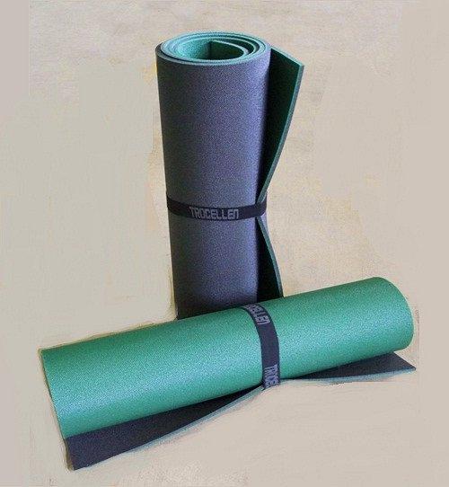 Коврик туристический двухслойный Антрацит-Зеленый 1800х600х8мм - фото 1