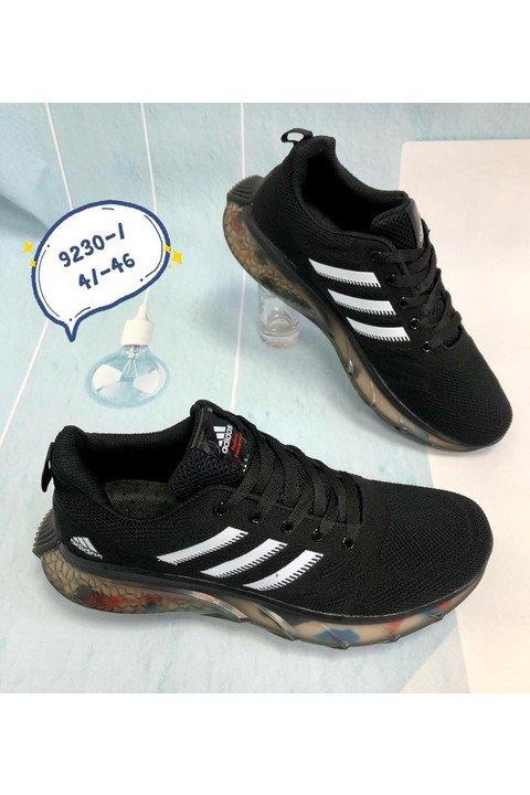 Мужские кроссовки 9230-1 черные - фото 1