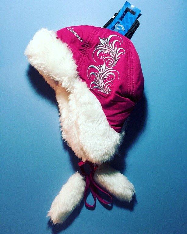 Теплая зимняя шапка-ушанка Lummie цвет Dark Crimson - фото 1