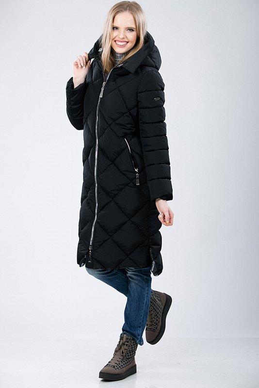 Пальто м-34231 черное XL - фото 1