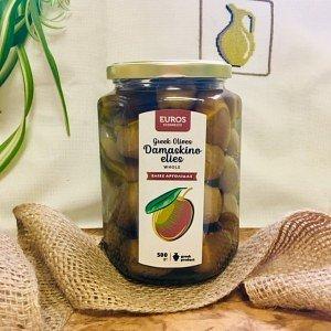 Оливки золотистые Гайдура Evros, ст.банка, 500г - фото 1