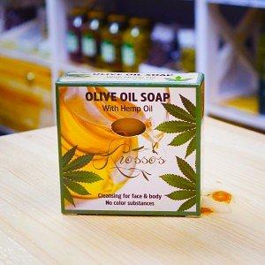 Оливковое мыло с конопляным маслом, 120г - фото 1