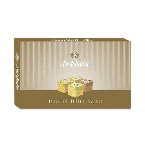 Сладость Соан Папди Ассорти Assorted Indian Sweets Bestofindia 600 гр. - фото 1