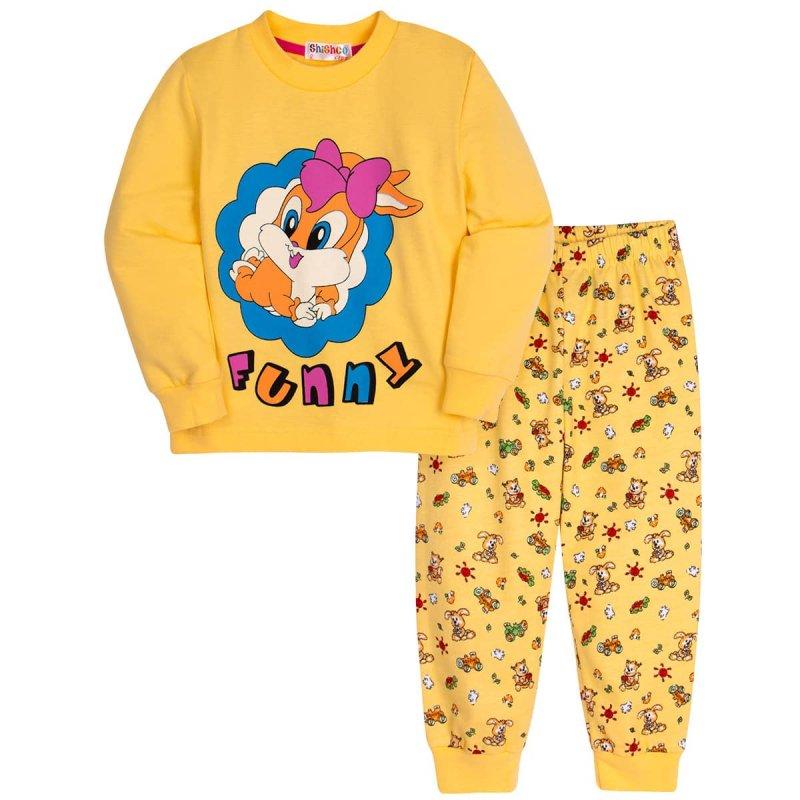 Пижама Shishco Bunny утепленная для девочки - фото 1