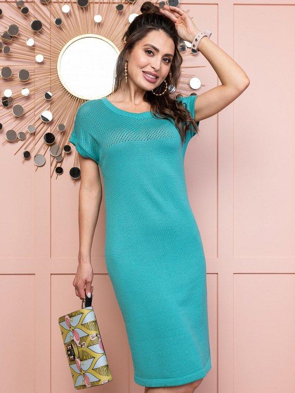 Платье Любовное увлечение (бирюза) - фото 1