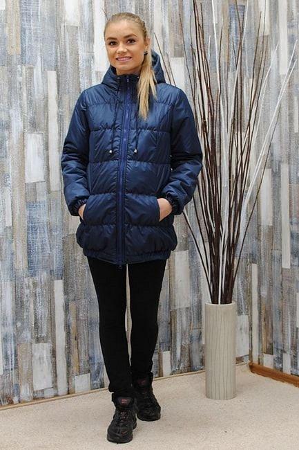 Куртка для беременных демисезонная В-903 ТС темно-синий - фото 1