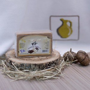 Натуральное оливковое мыло ВАНИЛЬ Knossos, 100г - фото 1