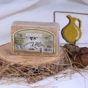 Натуральное мыло ЛИСТЬЯ ОЛИВЫ Knossos, 100г - фото 1