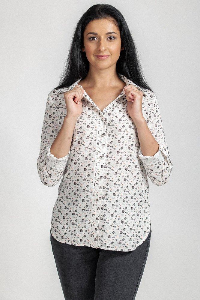 модель блузон дл.рукав; текстиль - фото 1