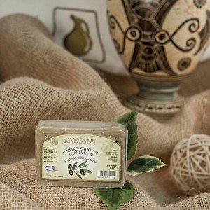 Натуральное оливковое мыло ЗЕЛЕНОЕ Knossos, 100г - фото 1