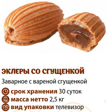 ЭКЛЕРЫ со сгущенкой 1/2,5кг Хит продаж! - фото 1