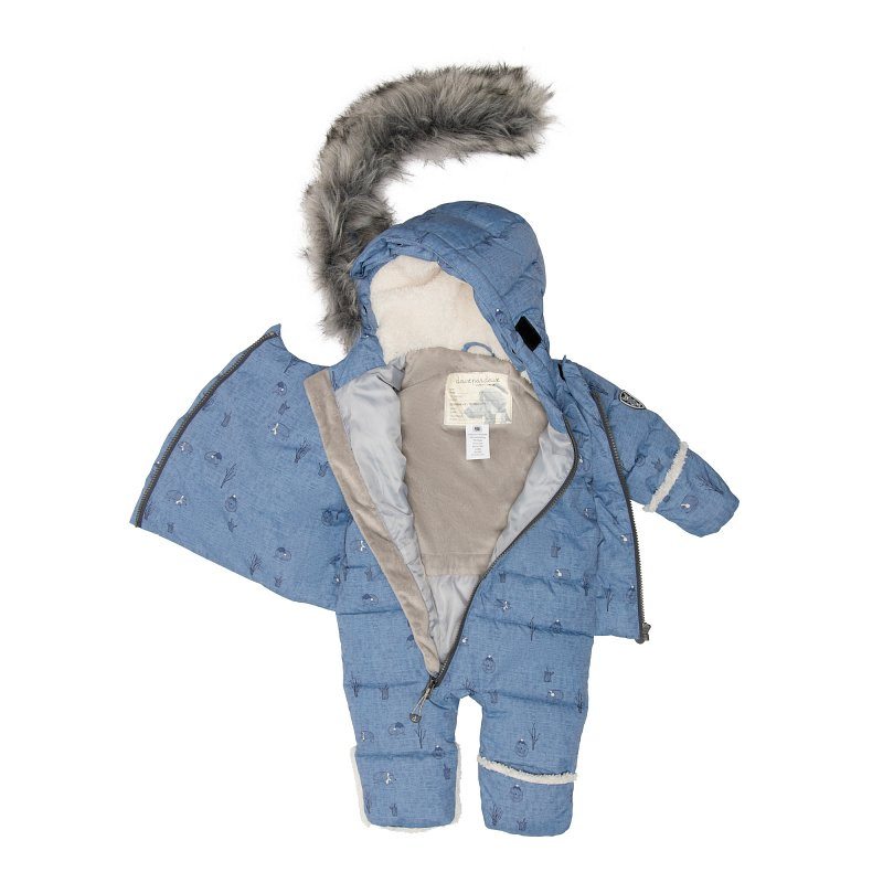 Комбинезон детский слитный в комплекте с манишкой D10 A601 002 - фото 1