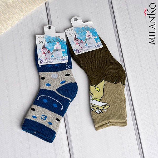Детские носки махровые MilanKo IN-086 (цена за 2 пары) - фото 1