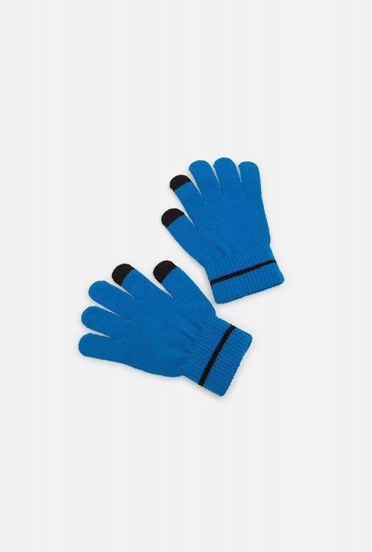 10136420007 Перчатки детские для мальчиков Tihvin_s синий - фото 1