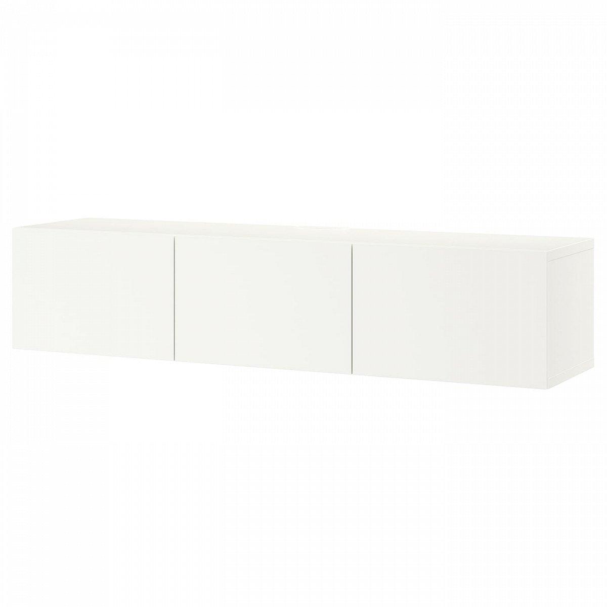 БЕСТО, Тумба под тв, с дверцами, белый/Лаппвикен белый, 180x42x38 см - фото 1