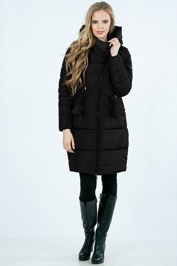 Пальто м-422 черное - фото 1