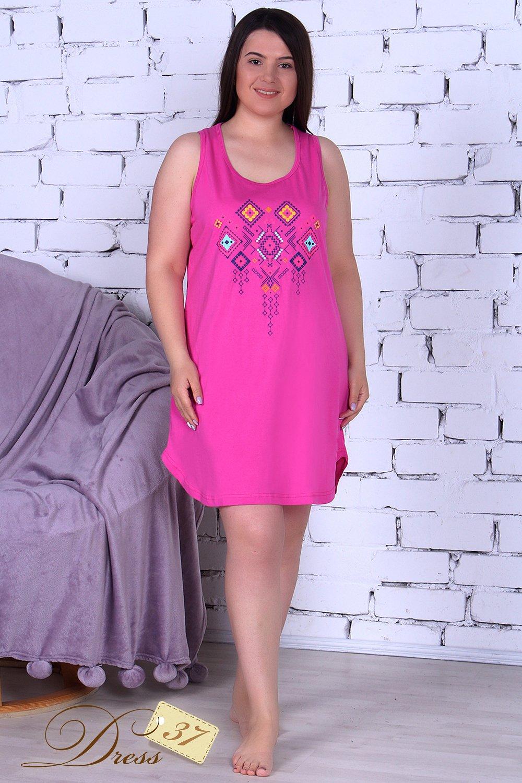 Сорочка женская «Надин» малина - фото 1