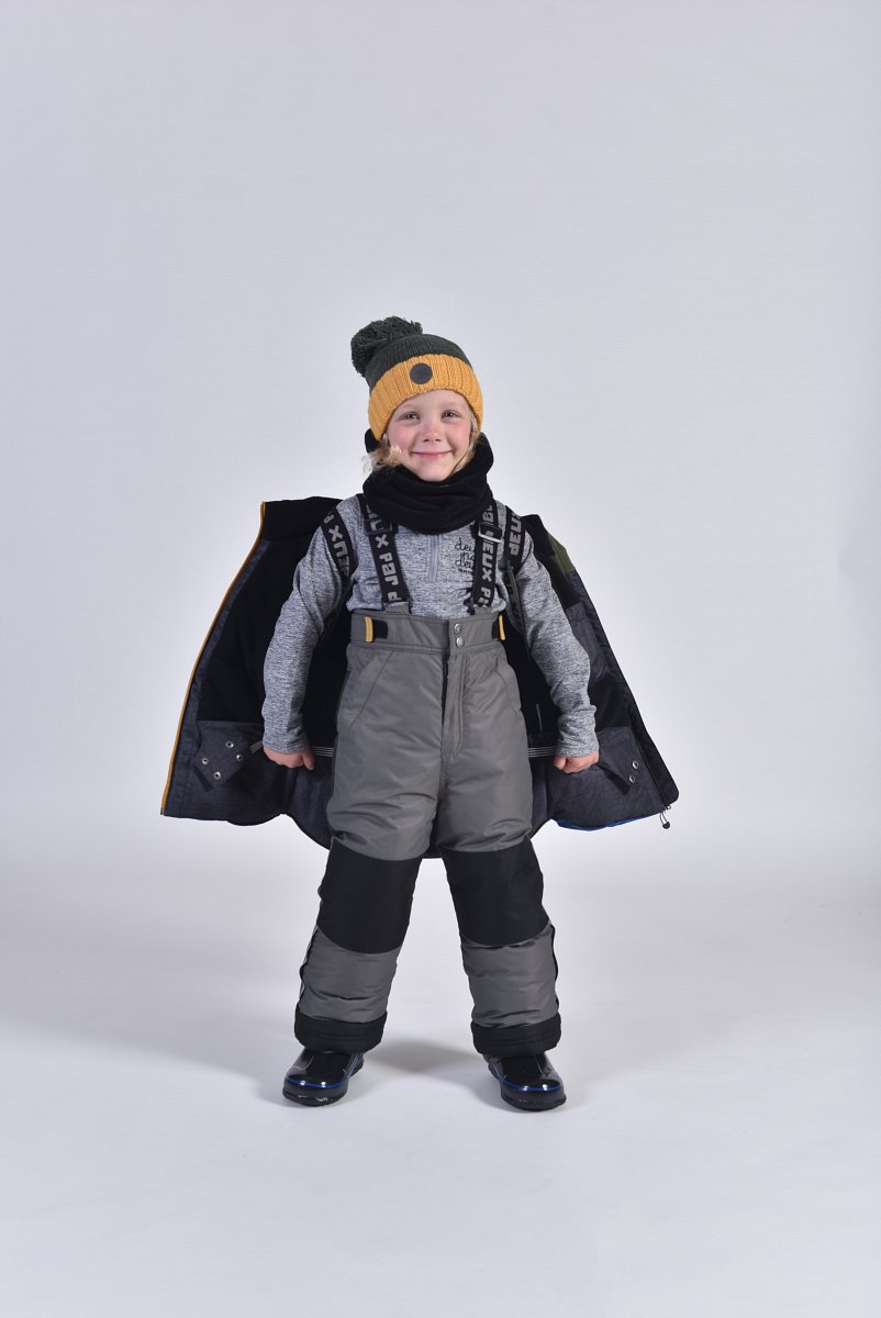 Костюм детский для мальчика (куртка+брюки на лямках+манишка) D10 L807 372 - фото 1