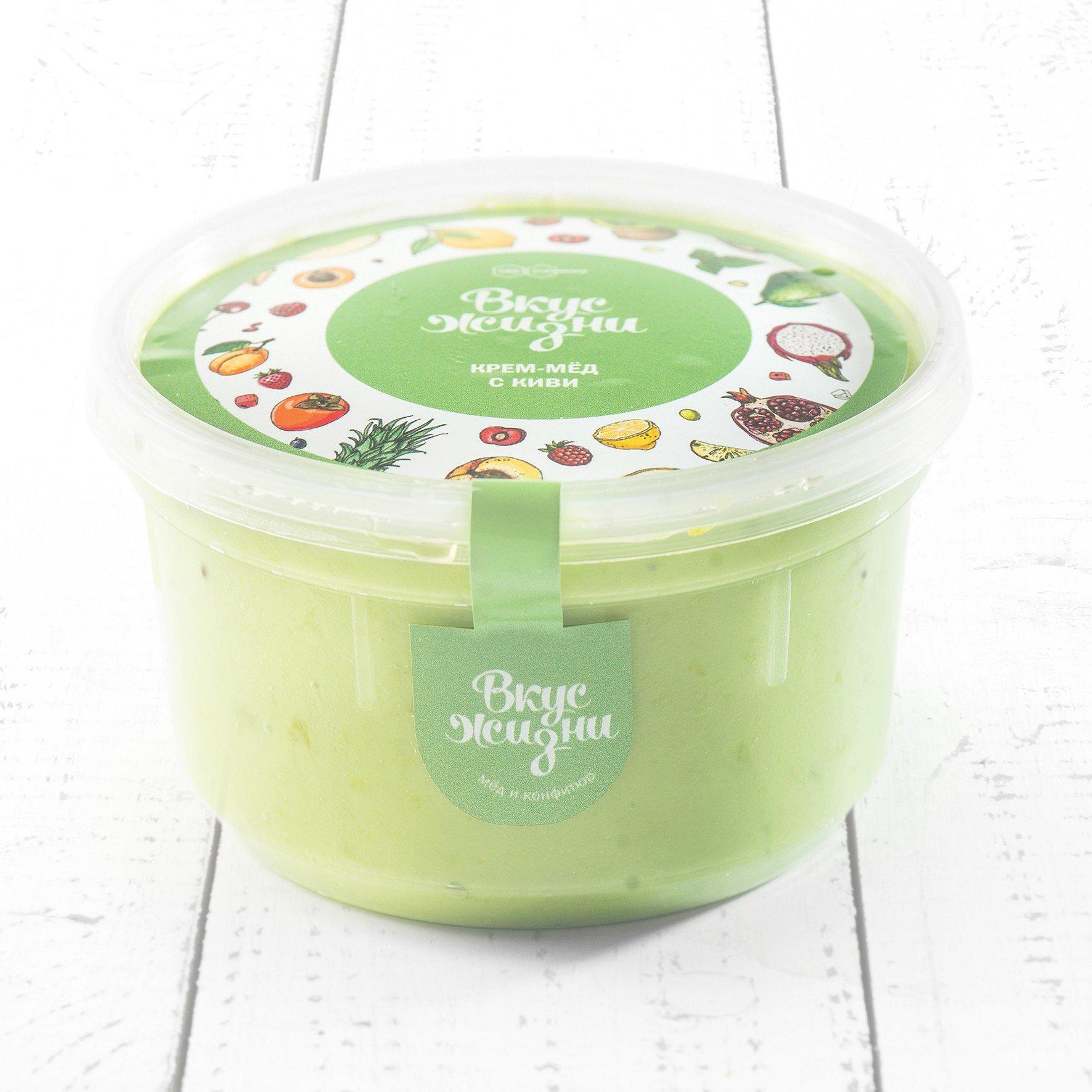 Крем-мёд с киви в пластиковой банке Вкус Жизни New 300 гр. - фото 1