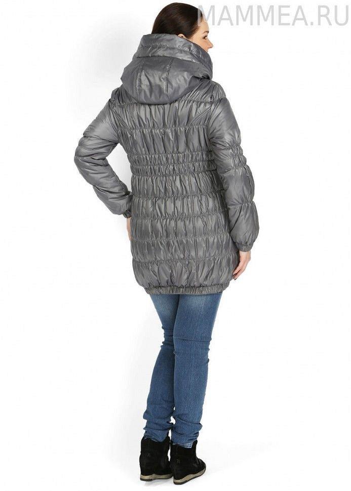 """Куртка демисезонная 3 в 1 """"Сандра"""" серая для беременных и слингоношения (размер 44) - фото 1"""