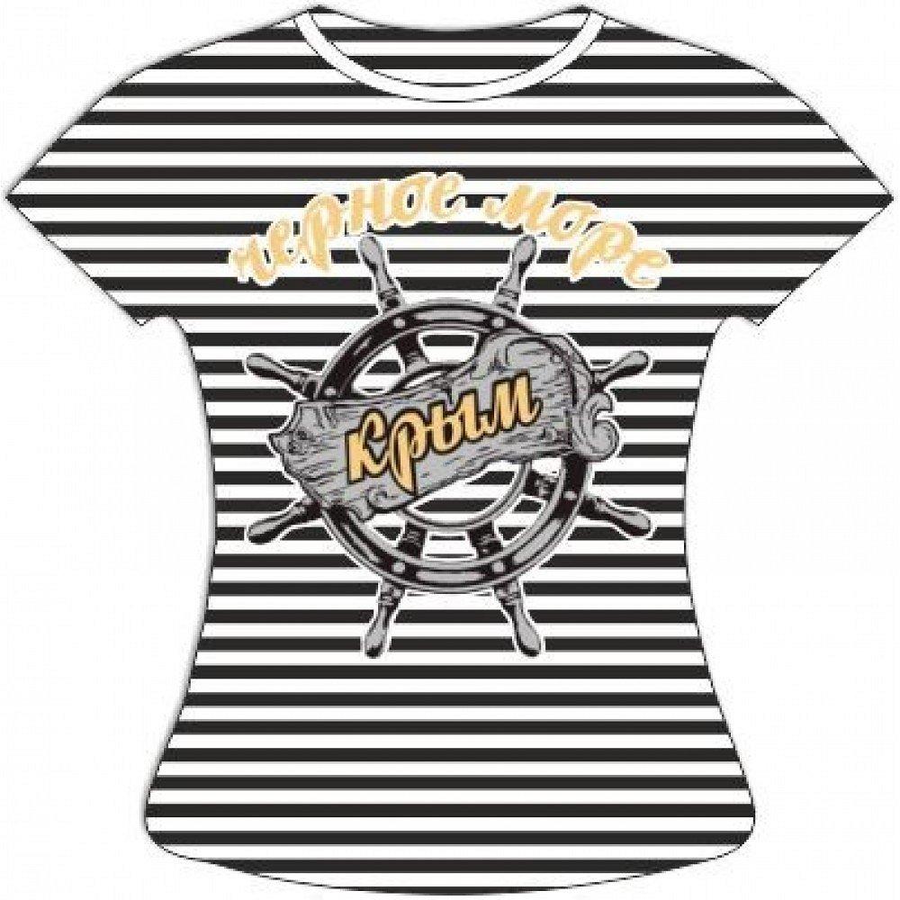 Женская полосатая футболка Штурвал - фото 1