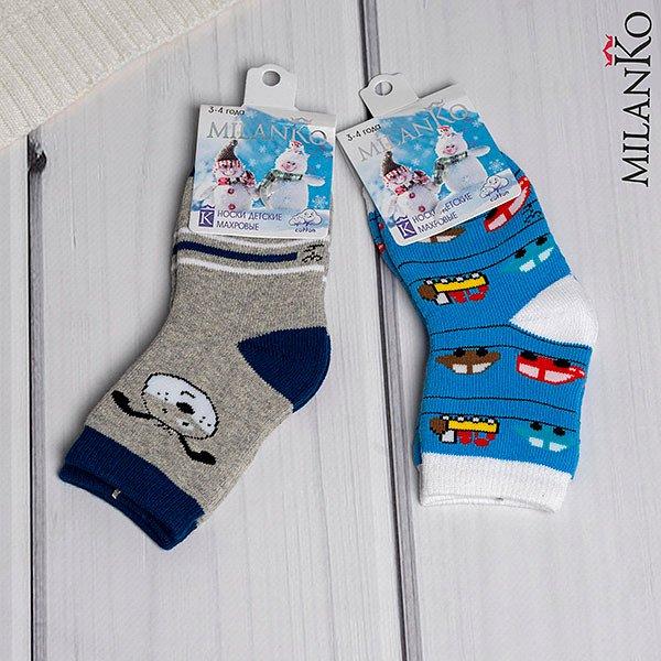 Детские носки с махрой MilanKo IN-086 (цена за 2 пары) - фото 1