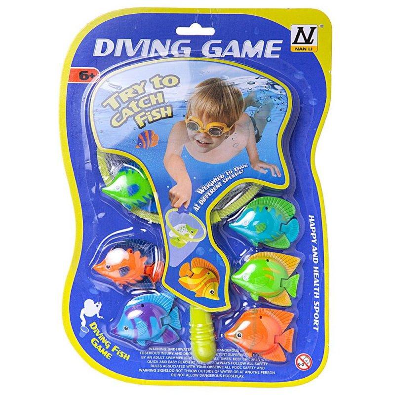 Игровой набор Junfa Поймай рыбку сачок 23х14см и 6 тропических рыбок45 - фото 1