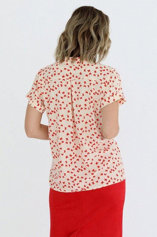 Блузка с отложным воротником и лацканами, - фото 1