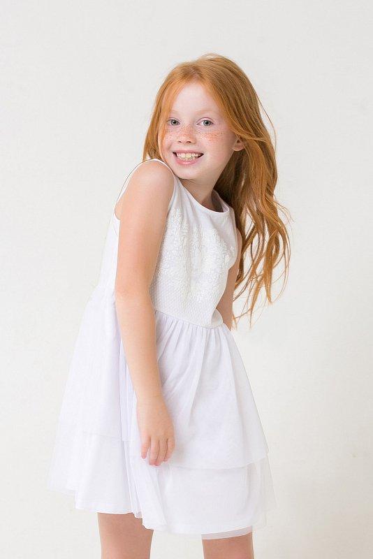 Платье - К 5663/белый - фото 1