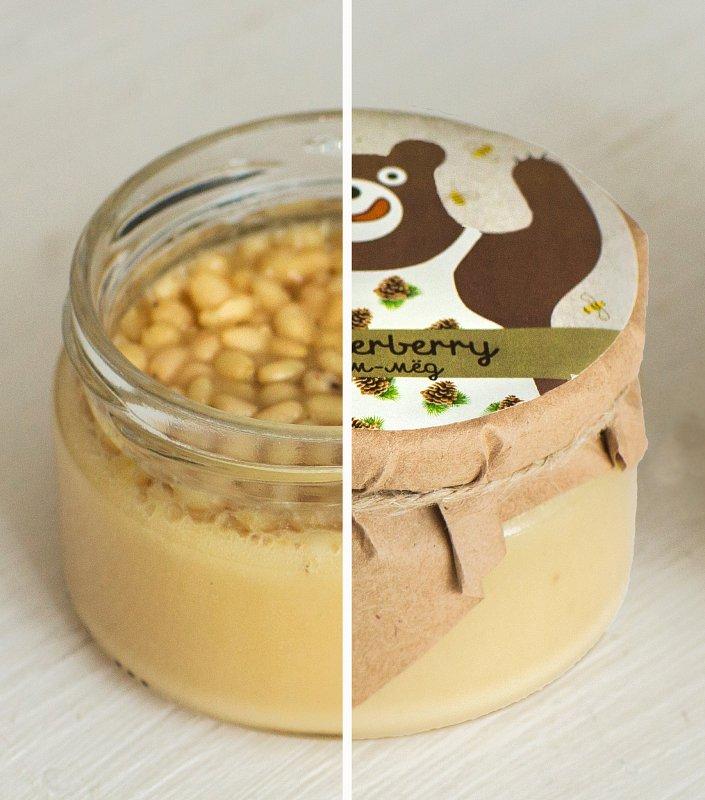 Крем-мед с кедровыми орешками - фото 1