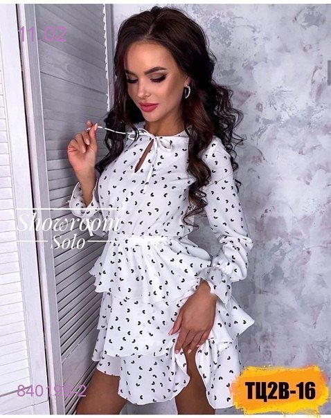 Платье Белый 840199-2 - фото 1