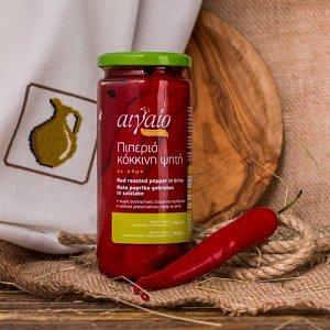 Перец красный печеный сладкий Aigaio, Греция, ст.банка, 450г - фото 1