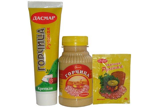 Горчица Русская 0,1 кг туба - фото 1