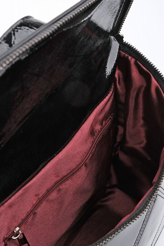 Женский рюкзак Cunel Daily, черный из лакированной кожи 19K0046FR5041 - фото 1