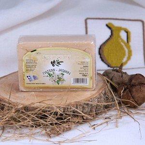 Натуральное оливковое мыло ЖАСМИН Knossos, 100г - фото 1