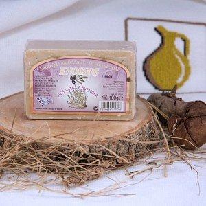 Натуральное оливковое мыло ЛАВАНДА Knossos, 100г - фото 1