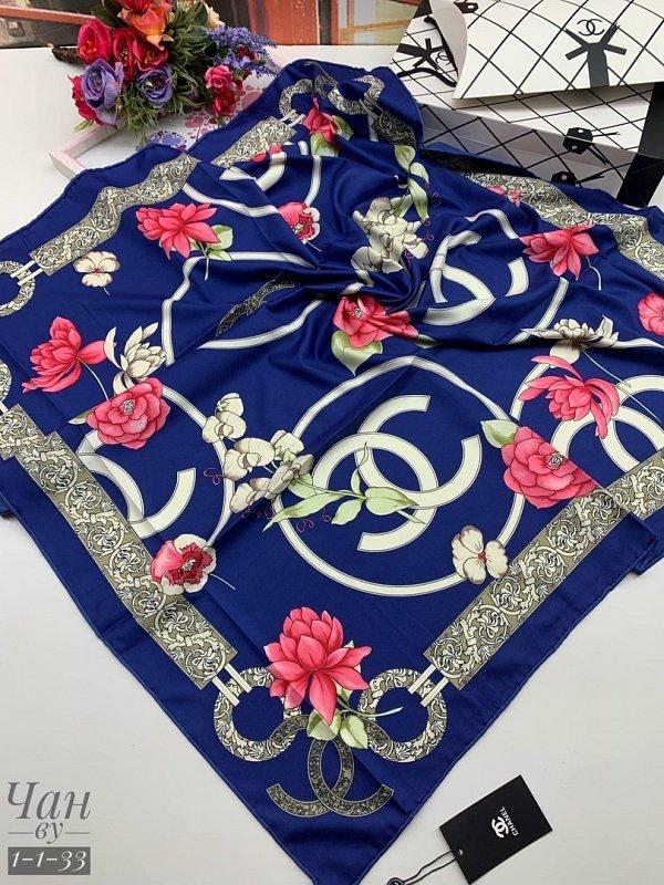 Платок шелковый - Chanel 90*90 см - фото 1