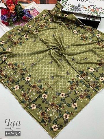 Платок шелковый Gucci ручная обработка - фото 1