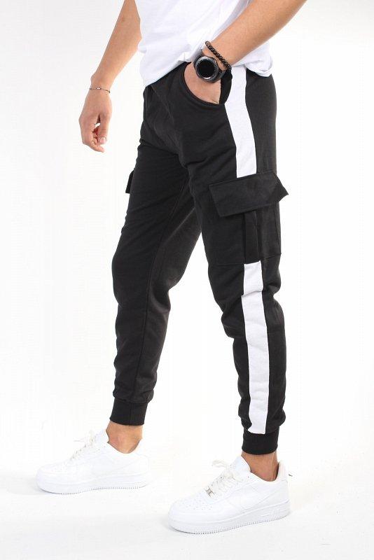 Черные спортивные брюки-карго Byyasar Leg Elastic Jogger TRNDALT06 - фото 1