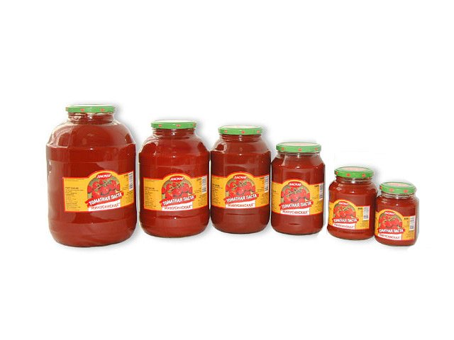 Паста томатная Минусинская 1,6 кг стекло - фото 1