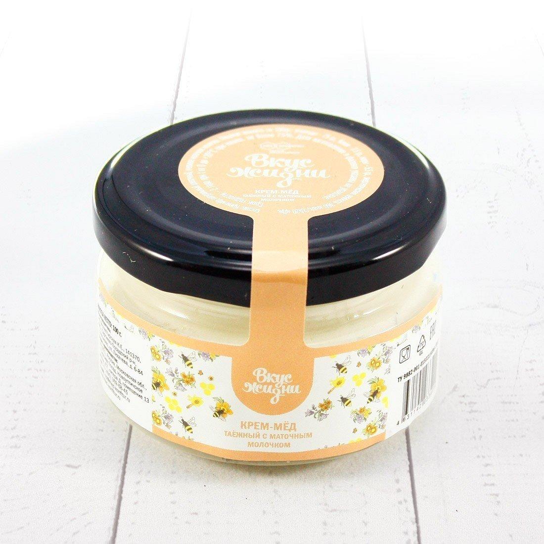 Крем-мёд таежный с маточным молочком Вкус Жизни New 100 гр. шайба - фото 1